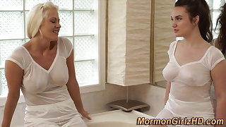Bathing mormon missionary