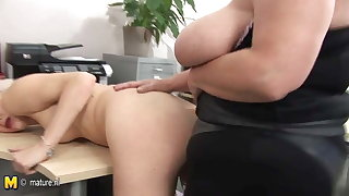 Busty mature coach teaching young babe a lesson