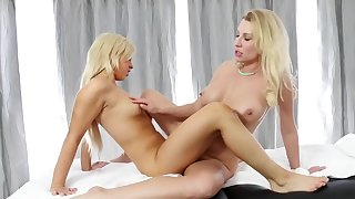 Mature lesbian with young nurse