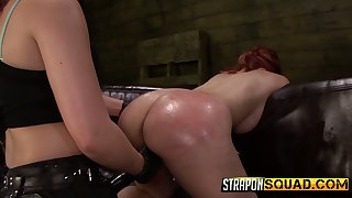 Seductive chick Isa Mendez is punished by two kinky and disparaging mistresses
