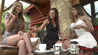 Wild Russian bitch Roxy Lips desires to lend lesbian a bit and enjoys anal masturbation