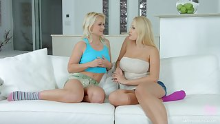 Hot embrocate of blond bugger up Angel Wicky