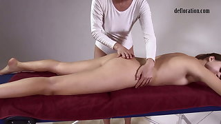 Jankovska gets her hooves and ass massaged
