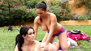 Adrianna Luna, Megan Rain - BTS-Martial Arts Accident