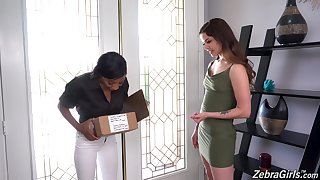 Handsome lesbo models September Reign with an increment of Vanessa Vega. Interracial