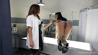 Glaze of pornstars Francesca Le with an increment of Kira Noir being naughty