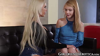 Blonde MILF seduced and ignored cute teen