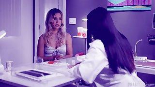 Lesbo sluts Alina Lopez and Angela White have kinky sex. HD