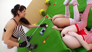 Timeless anal golf XXX video featuring Anita Hengher and Izobella Clark