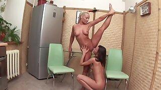 Amateur friends Floya and Tasha B. shot passionate lesbian mating
